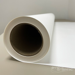 Rouleau de Vinyle Auto-Adhésif Blanc Mat 250g/m² - 1,118m x 30m