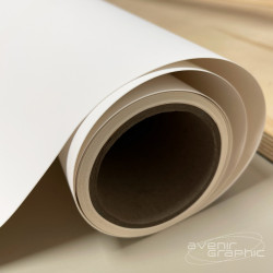 Vinyle adhésif blanc mat