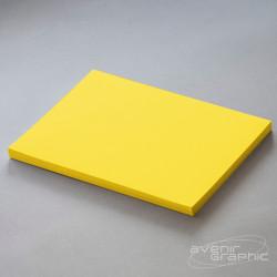 Papier couché jaune fluo 95g/m² - 0.610m x 45m
